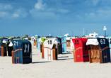 Ferienhaus Watt n Urlaub, Strandkörbe