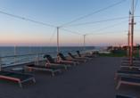 Baltivia Sea Resort in Mielno, Polnische Ostsee, Polen, Dachterrasse