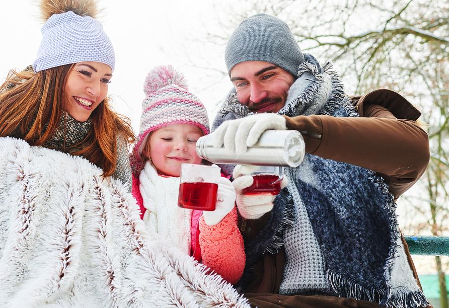 Ferienhaus Watt n Urlaub, Familienausflug mit Tee