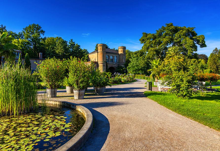 Hotel-Restaurant Erbprinz in Ettlingen, Botanischer Garten Karlsruhe