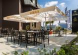 Hotel Trezor in Singen, Terrasse