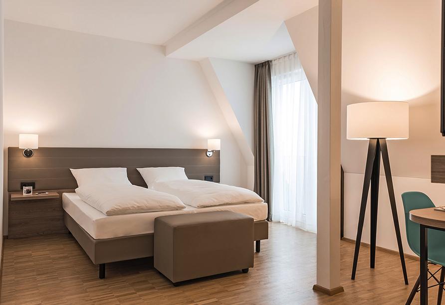 Hotel Trezor in Singen, Beispiel Doppelzimmer Gold