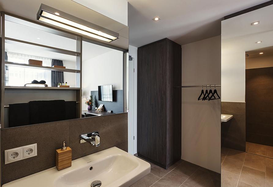 Hotel Trezor in Singen, Beispiel Badezimmer