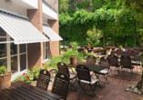Hotel Heidegrund in Garrel, Terrasse