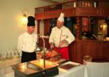 Hotel Praha in Gottesgab im Erzgebirge in Tschechien, Abendessen