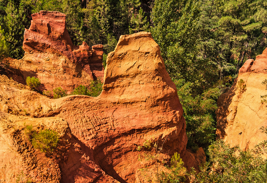 Rundreise Provence, Ockerbrüche bei Roussillon