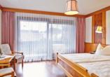 Ringhotel Pflug in Oberkirch, Beispiel Doppelzimmer mit Balkon