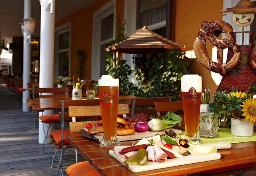 Hotel Vier Jahreszeiten in Garmisch-Partenkirchen, Terrasse