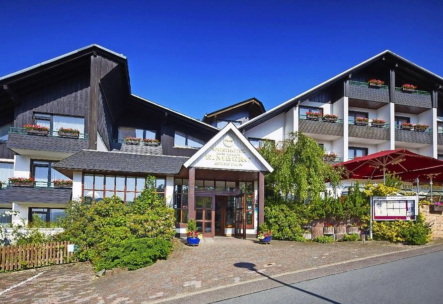 Sporthotel zum Hohen Eimberg in Willingen, Außenansicht