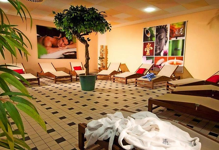 Entspannen Sie im Ruheraum des Hotels Residence Starnberger See in Feldafing.