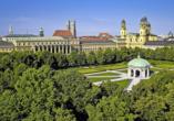 Besuchen Sie die bayerische Landeshauptstadt München mit ihren zahlreichen Sehenswürdigkeiten.