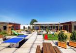 Der Dachgarten des GuestHouse Hotels Kaatsheuvel ist der perfekte Ort für gemütliche und spaßige Stunden.