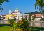 IBB PaDer Passauer Dom steht am höchsten Punkt der Altstadt.ssau Süd in Passau, Passau