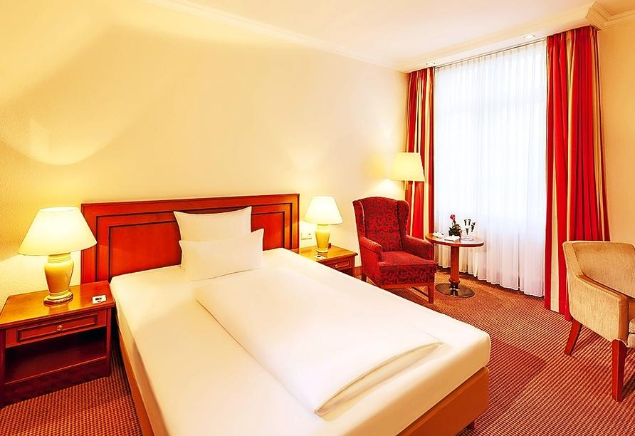 Beispiel eines Standardzimmers im Dorint Resort & Bad Brückenau