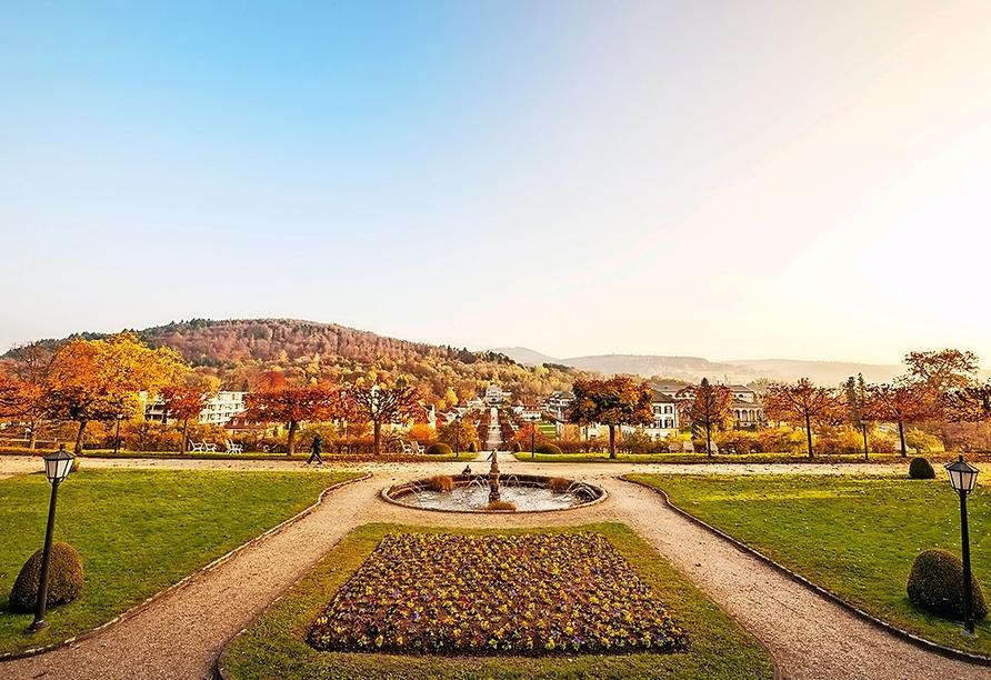 Im Dorint Resort & Spa Bad Brückenau haben Sie den schönen Schlosspark direkt vor der Haustür.