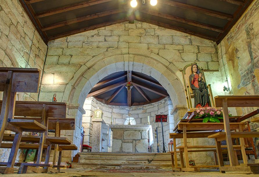 Klein aber fein – die Kirche Santa Maria in Leboreiro.