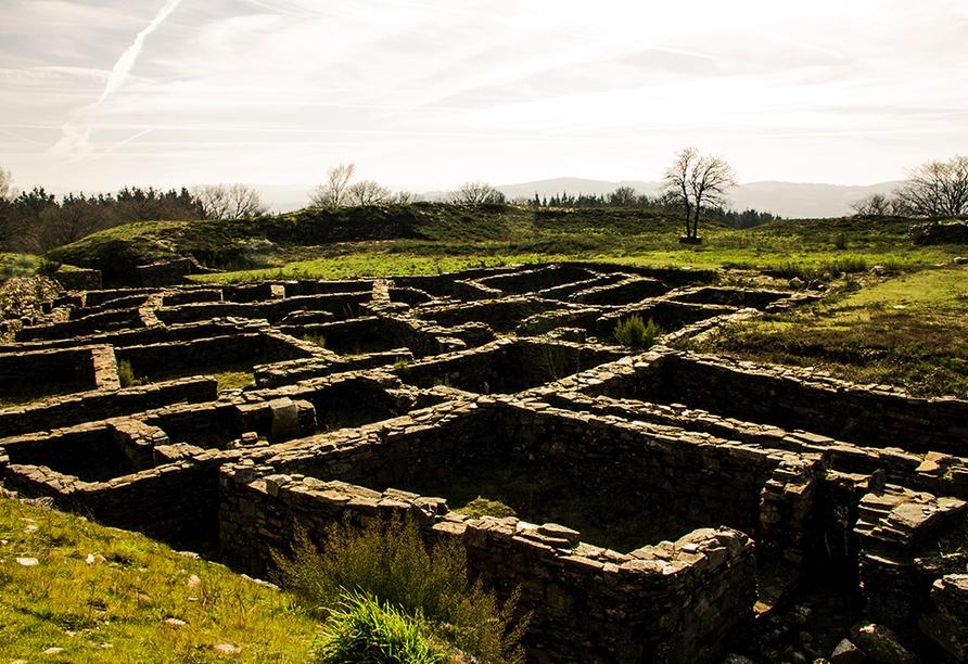 Entdecken Sie die keltischen und romanischen Ruinen in Castromaior.