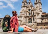 Geschafft! Die Kathedrale von Santiago de Compostela ist ein imposanter Anblick.