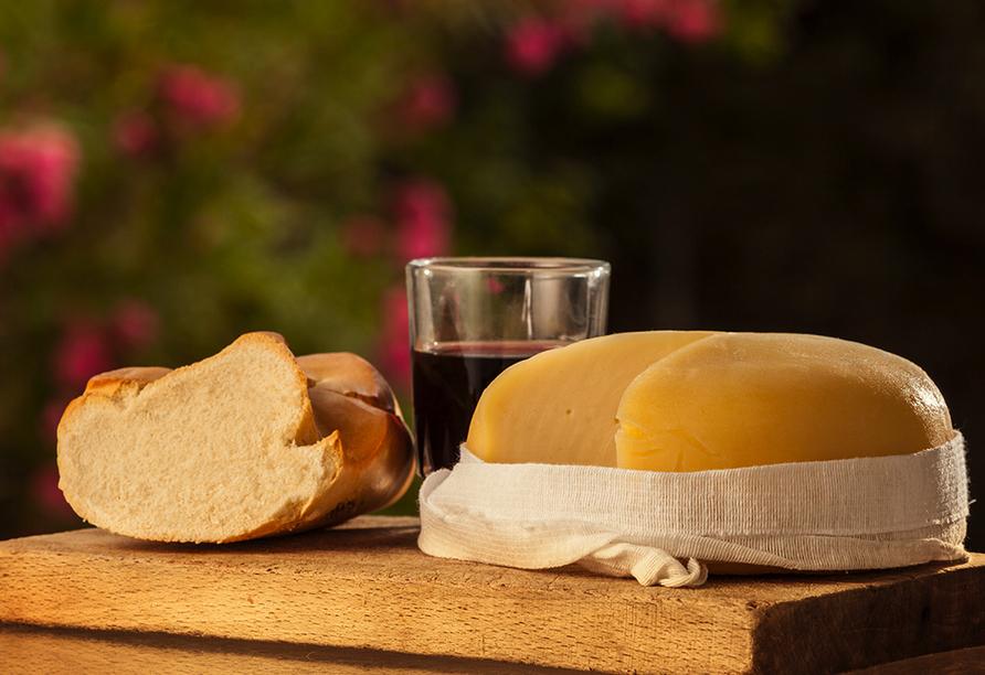 Probieren Sie unbedingt den regional typischen Käse in Arzúa.