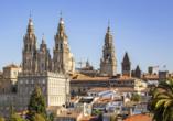 Die Kathedrale von Santiago de Compostela ist ein beeindruckendes Fotomotiv.