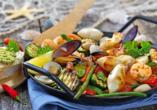 Rundreise durch Albanien, Fischgericht Meeresfrüchte
