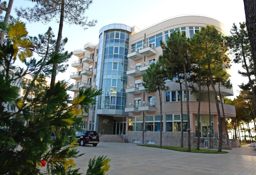 Rundreise durch Albanien, Beispielhotel Dolce Vita Durrës Außenansicht