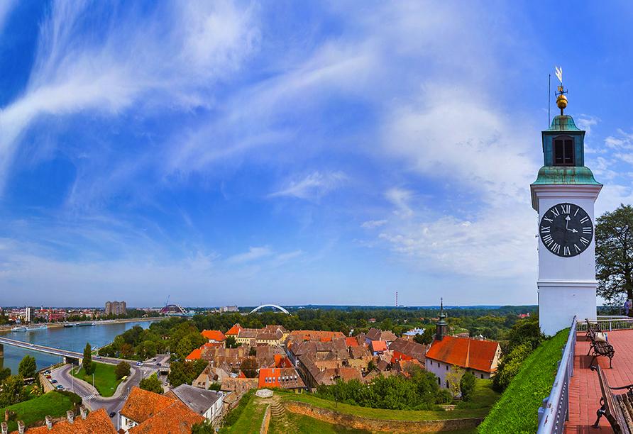 Panoramablick über Novi Sad.