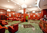 Die moderne Lobby vom Hotel Novi Sad.