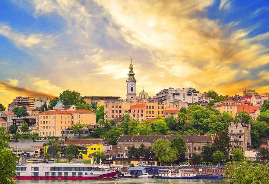 Blick auf die historische Altstadt von Belgrad.