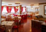 Hotel Stella Alpina in Bellamonte, Italien, Restaurant