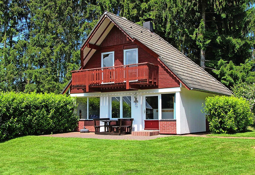 Beispielhafte Darstellung eines Ferienhauses im Ferienwohnpark Silbersee