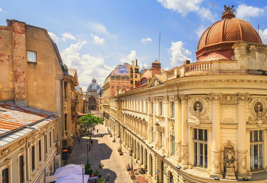 Die Altstadt von Bukarest ist besonders schön.