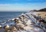 Auch im Winter lockt der Strand zu schönen Spaziergängen.