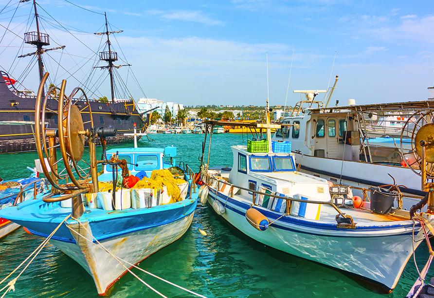Der Hafen von Ayia Napa lädt zum gemütlichen Schlendern ein.