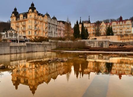 Hotel Excelsior in Marienbad, Stadtansicht
