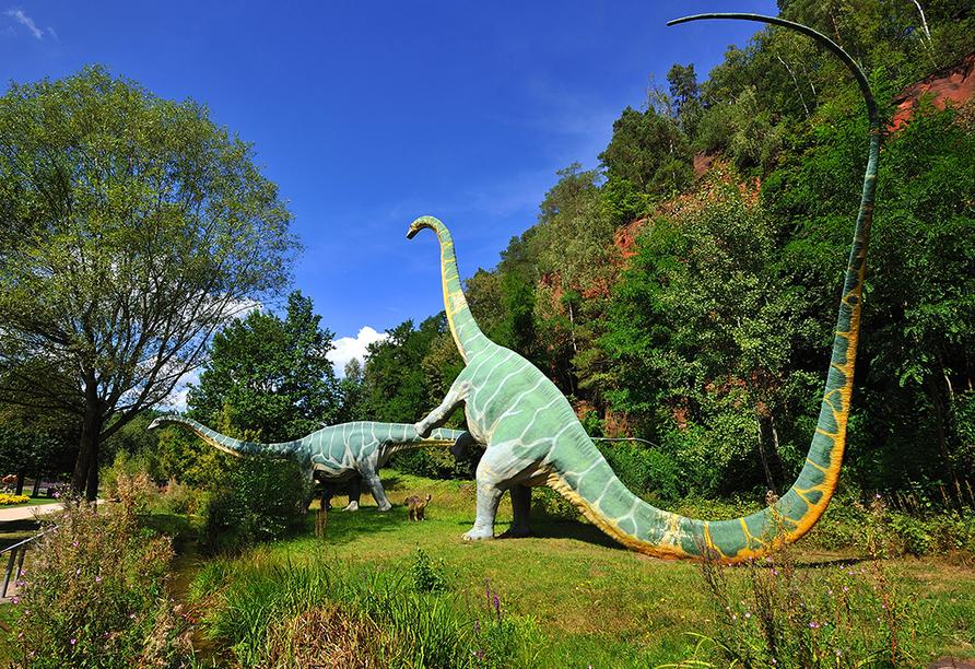 Jährlich zwischen April und Oktober begeistert die Gartenschau mit der Dinosaurierausstellung in Kaiserslautern ihre Besucher.