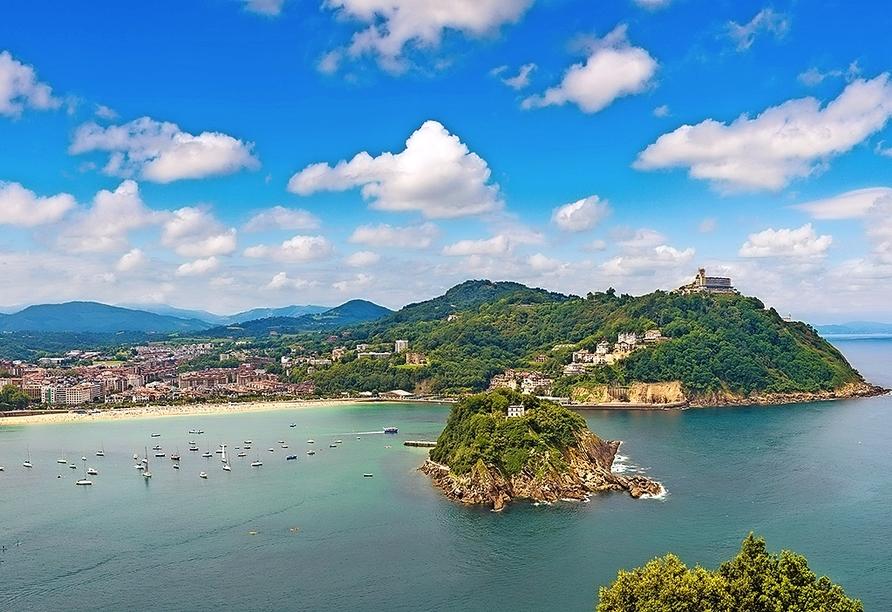 Freuen Sie sich auf das wunderschöne San Sebastián an der Atlantikküste.