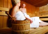 In der Sauna tanken Sie neue Energie für den Alltag!
