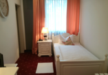Beispiel eines Einzelzimmers im Hotel & Gourmet-Restaurant Westhoff