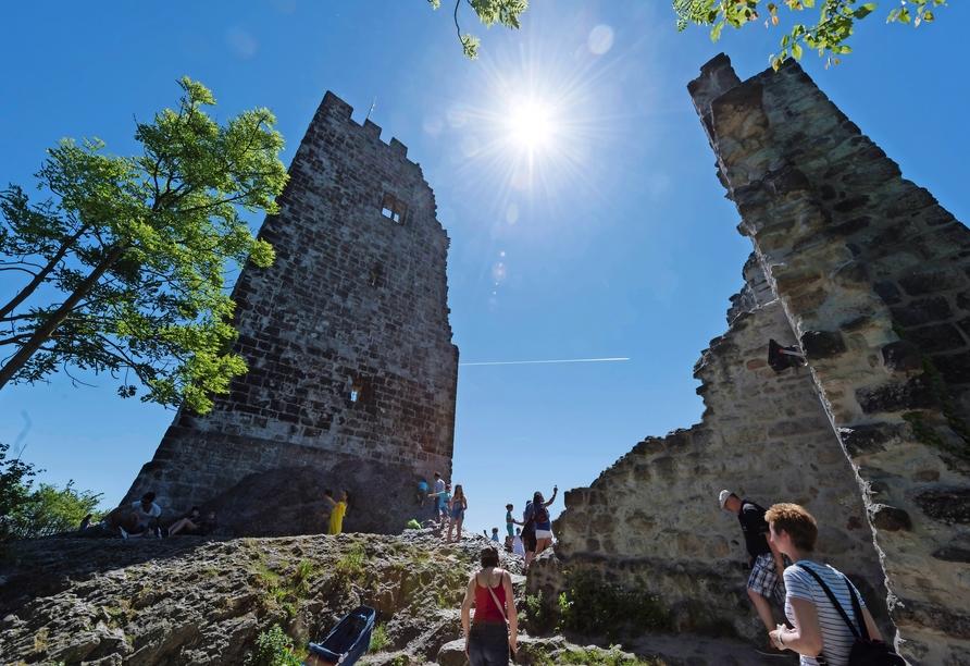 Die historische Burgruine von Drachenfels ist ein tolles Ausflugsziel.