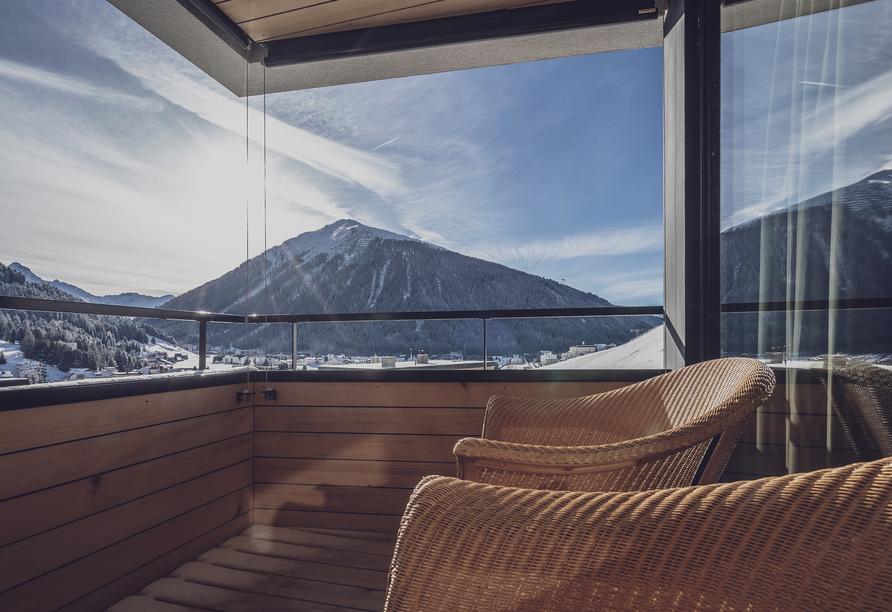 Parsenn Resort Davos Schweiz, Balkon