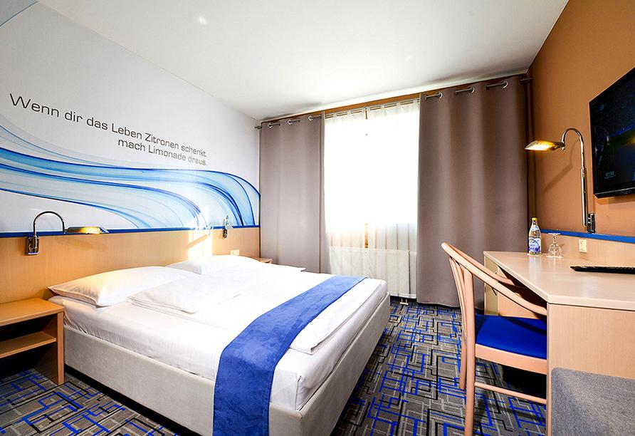Beispiel Doppelzimmer Standard vom PLAZA Hotel Mühldorf am Inn