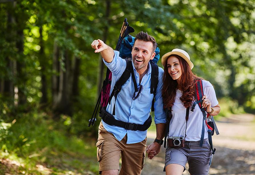 Zahlreiche Wanderwege und Pilgerpfade bieten wohltuende Erholung in traumhafter Natur.