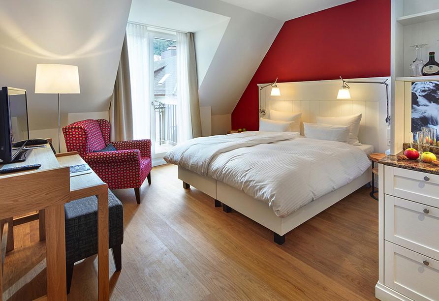 Beispiel eines Doppelzimmers Klassik vom Hotel Therme Bad Teinach