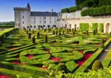 Die Gärten und das Schloss von Villandry werden Sie zum Staunen bringen.