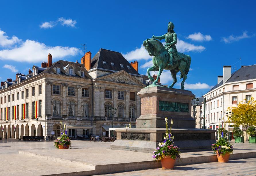 Das Reiterdenkmal von Jeanne d'Arc in Orléans