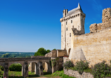 Das Chateau von Chinon liegt oberhalb des Flusses Vienne.