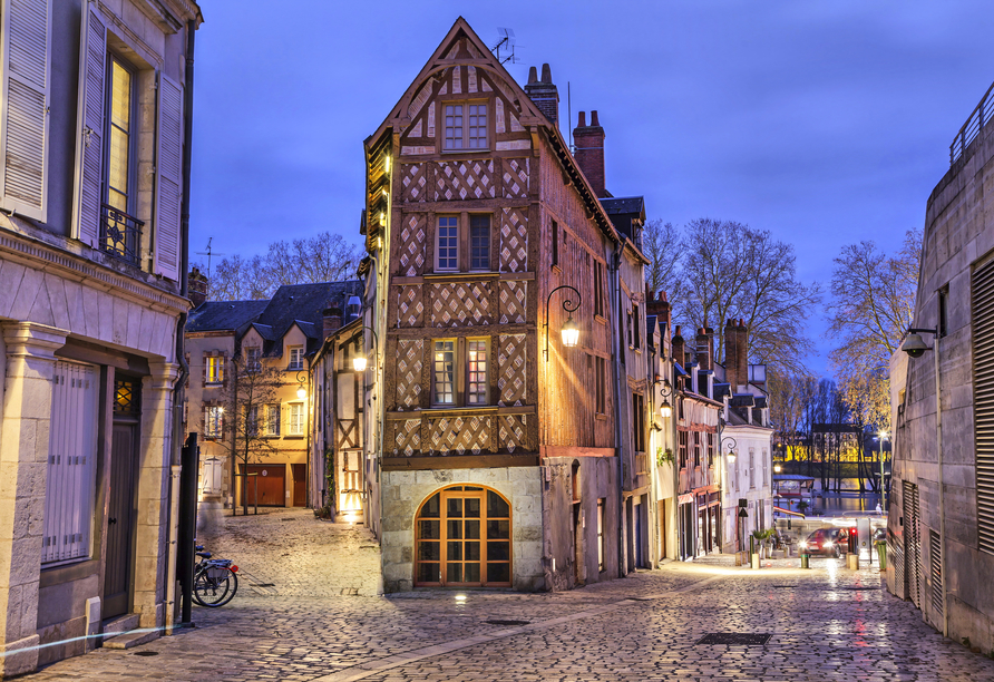 Die Altstadt von Orléans hält wunderschöne Fachwerkhäuser bereit.