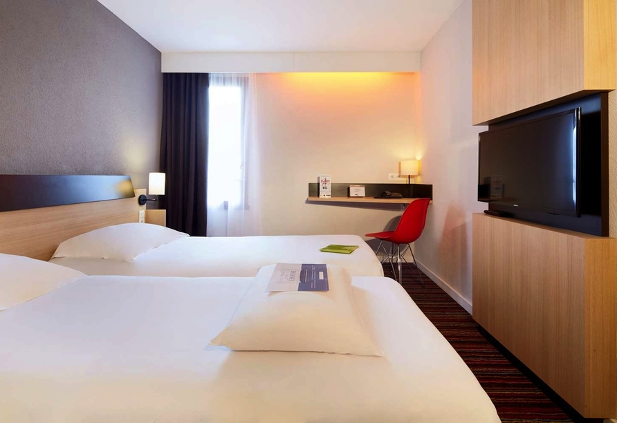 Zimmerbeispiel im Hotel Kyriad Tours Sud Chambray-lès-Tours