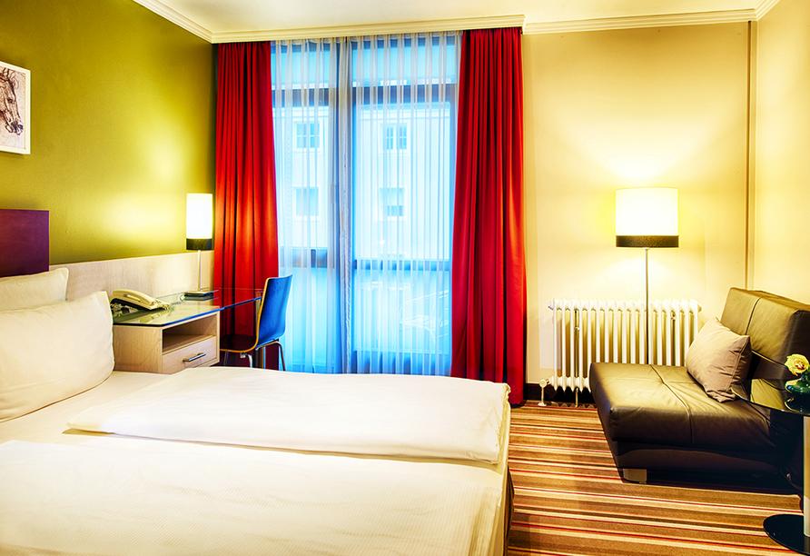 Beispiel eines Doppelzimmers im Leonardo Hotel & Residenz München